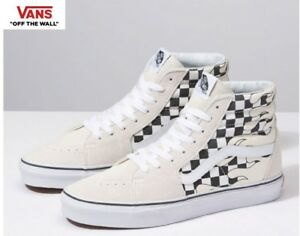 Details zu Vans Sk8 Hi Checker Flame Classic Street Style Fashion Sneakers,Shoes Men's