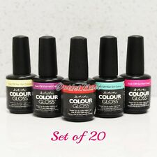 Artistic Nail Design Colour Gloss SET OF 20 Colors Gel Polish Lot Kit > SHIP 24H