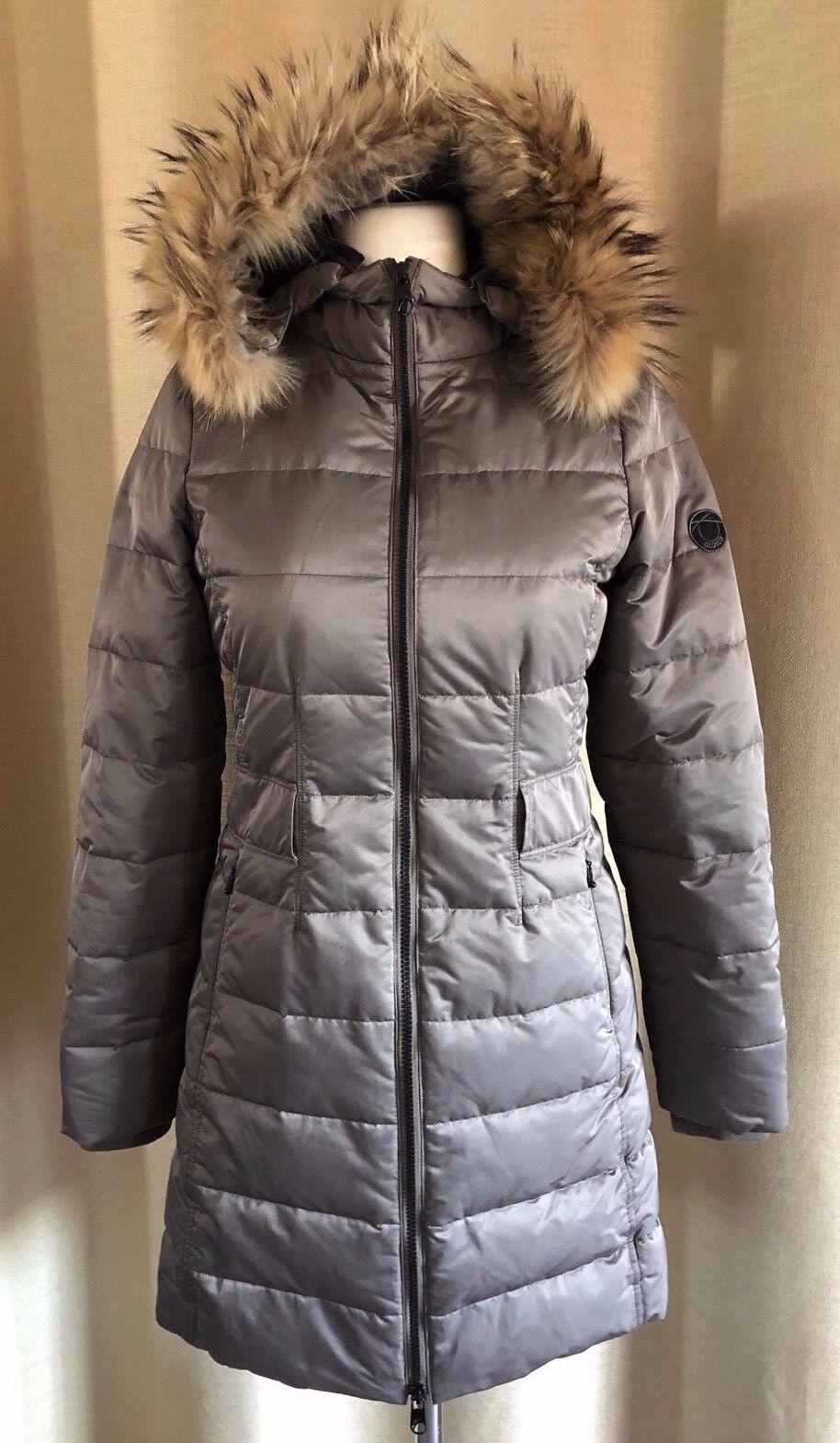 CLOSED Winter Mantel Daunenmantel taupe echter Pelz Größe S | | | Am wirtschaftlichsten  211970
