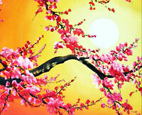 Cherry Blossoms Painting 1 - Cross Stitch Chart