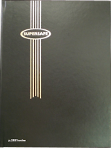 Black Hard Cover Black//White From Menu SuperSafe Stockbook 8pg Double Sided 16