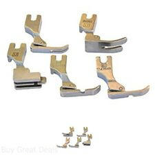 New 5 Presser Feet For Juki Industrial Sewing Machine Machines Textile Apparel