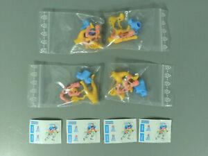 STECKIS-Footballspieler-034-Red-Devil-034-EU-1989-Komplettsatz-am-Steg-blau-AKF