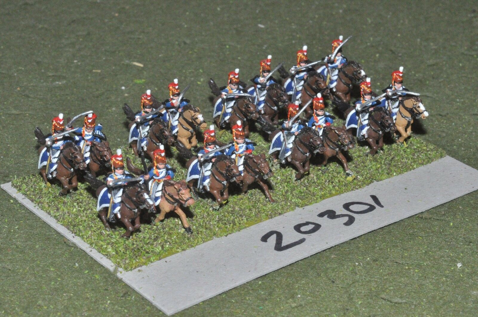 15mm napoleonic   british - cavalry 16 cavalry - cav (20301)