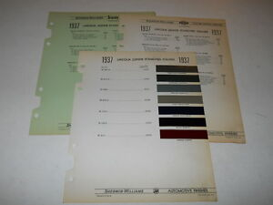 Details about 1937 LINCOLN ZEPHYR PAINT CHIP CHART COLORS SHERWIN WILLIAMS  PLUS MORE