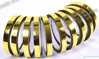 100m Gold Chrome Vinyl Tape, Width 1mm-65MM 328 Foot Laser flash Reflective Tape
