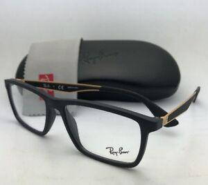 08e668e4e2 New RAY-BAN Rx-able Eyeglasses RB 7056 5644 55-17 145 Black   Gold ...