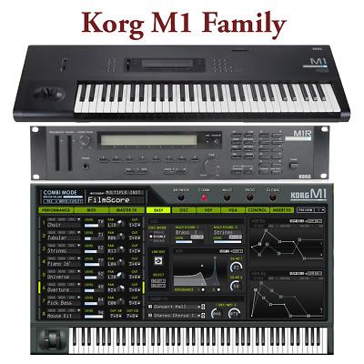 Most Sounds: Korg M1 M1R M1EX M1REX, M1 Legacy, T1 T2 T3   eBay