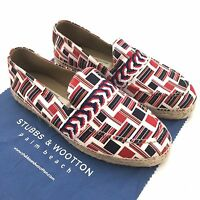 $295 Stubbs & Wootton Thom Browne Brooks Brothers Flag Espadrille Shoes Auth