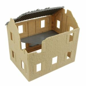 BMC-1-32-DESTROYED-FARM-HOUSE-WWII-CIVIL-WAR-FOR-TOY-SOLDIER-PLAYSET-FREE-SHIP