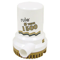 Rule 1500 G.p.h. gold Series Bilge Pump
