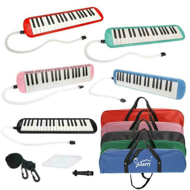 Red 37 Key Melodica Piano Keyboard Harmonica Musical Instrument With Carry Bag