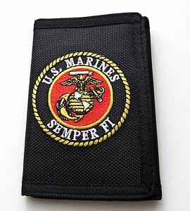 USMC-SEMPER-FI-US-MARINES-MARINE-NYLON-HEAVY-DUTY-EMBROIDERED-WALLET-TRI-FOLD