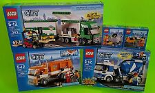 Lego City Set Lot 5610 5611 7733 7990 7991 Garbage Truck & Forklift Cement Mixer