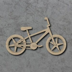 MDF BMX Bicycle Bike Craft Wooden Shape Blank 8cm