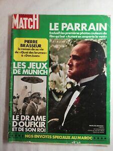 N1731 Magazine Paris-Match N°1216 26 août  1972 le parrain, le drame d'oufkir...