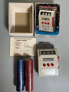 1971-Chuck-A-Luck-Electronic-Cordless-With-Poker-Chips-Great-Vintage-Gift