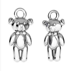 925-Plata-Encanto-Oso-de-Peluche-de-14mm-fabricacion-de-joyas-pendientes-pulsera