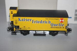 Maerklin-4890-Gueterwagen-mit-Bremserhaus-Kaiser-Friedrich-Quelle-Spur-H0-OVP