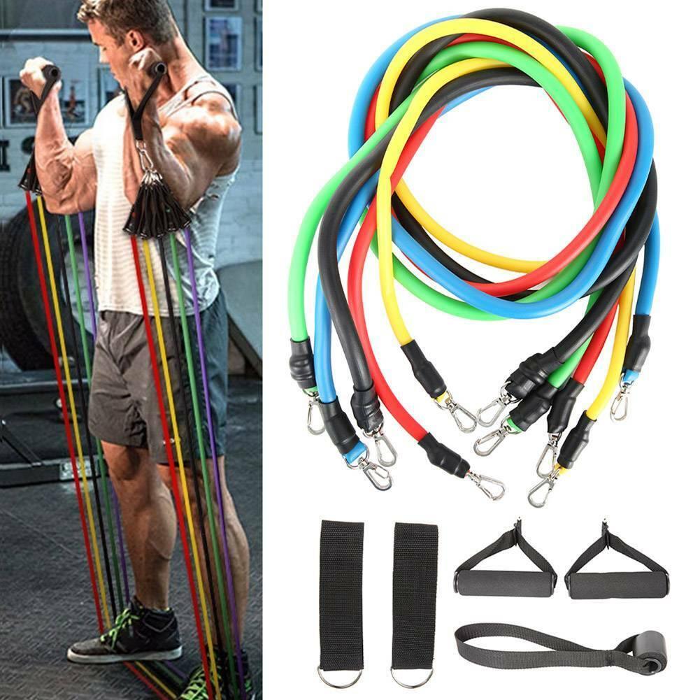 Resistance Bands Workout Exercise Yoga 11Pcs Set Crossfit Fitness Training Tubes 6