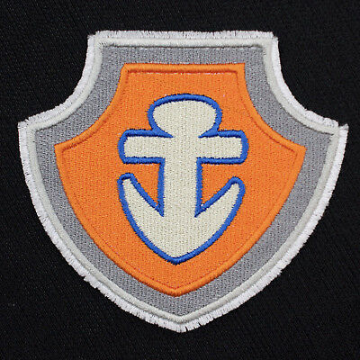 """Paw Patrol Marshall Shield Badge Embroidered Iron-On Patch 3 5//8/"""" x 4/"""" New!"""