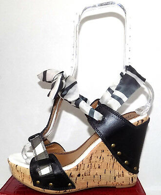 strap Ankle Wrap Studded Cork Wedges,38