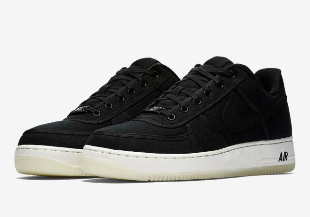 Nike Air Force 1 Low Retro QS Canvas Black AF1 Men's Shoes AH1067-004 Size 11.5