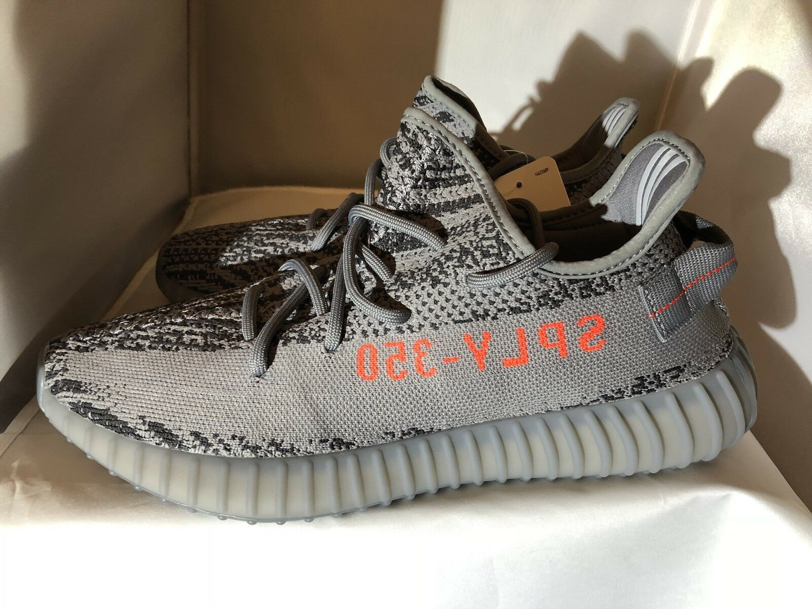 Adidas Yeezy Boost 350 DS Beluga 2.0 AH2203 Size 10 Grey orange. 100% Authentic.