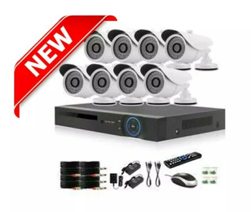 New 8 Channel AHD cctv camera system kit - Better quality security cameras at R2700 per system