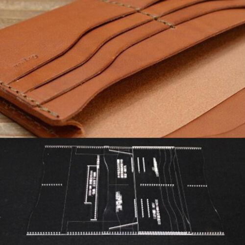 4 Stück Set klar Leder Muster Acryl Vorlagen für Geldbörse Lange