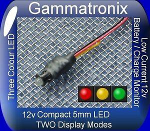 5mm LED 12v Voltmeter Battery level Alternator Charge monitor indicator lamp K
