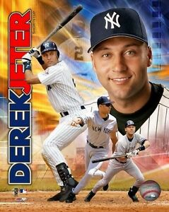 DEREK-JETER-034-New-York-Yankees-034-LICENSED-un-signed-poster-picture-pic-8x10-photo