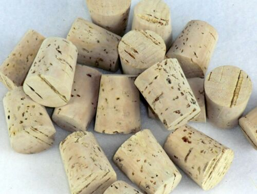 HOME WINE /& BEER MAKING/< 30 NATURAL TAPERED CORKS £5.99 SIZE 12   9 x18x13MM