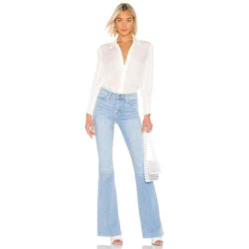 L'Agence Blue Cloud Bell High Rise Flare Jeans 25