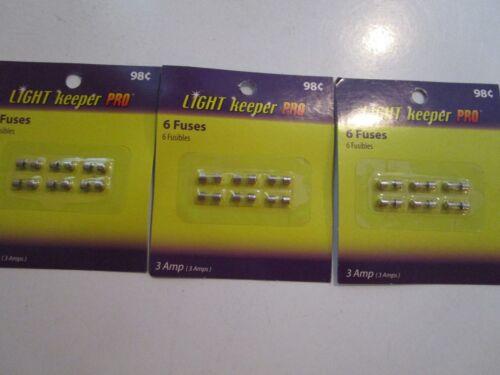 18 6 FUSES 3 AMP 3 PACKS OF 6 EACH NIP