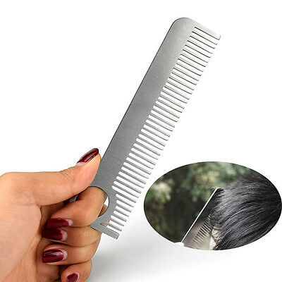 EDC Hair Comb Unisex Stainless Steel Health Care Tactical Pocket Useful Hot