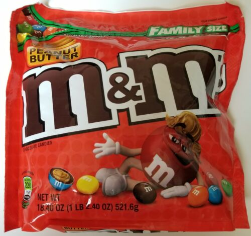 NEW Sealed Peanut Butter M/&M/'s Family Size 18.40 oz Bag FREE WORLDWIDE SHIPPING