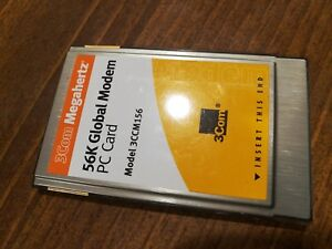 3Com-Megahertz-56K-Global-GSM-amp-cellular-Modem-PC-Card-Model-3CCM156-Used