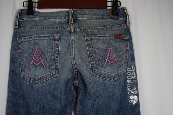 Seven For All Mankind bluee Jeans-27-New With Tags-BootLeg Wide 178 Value-B1-3
