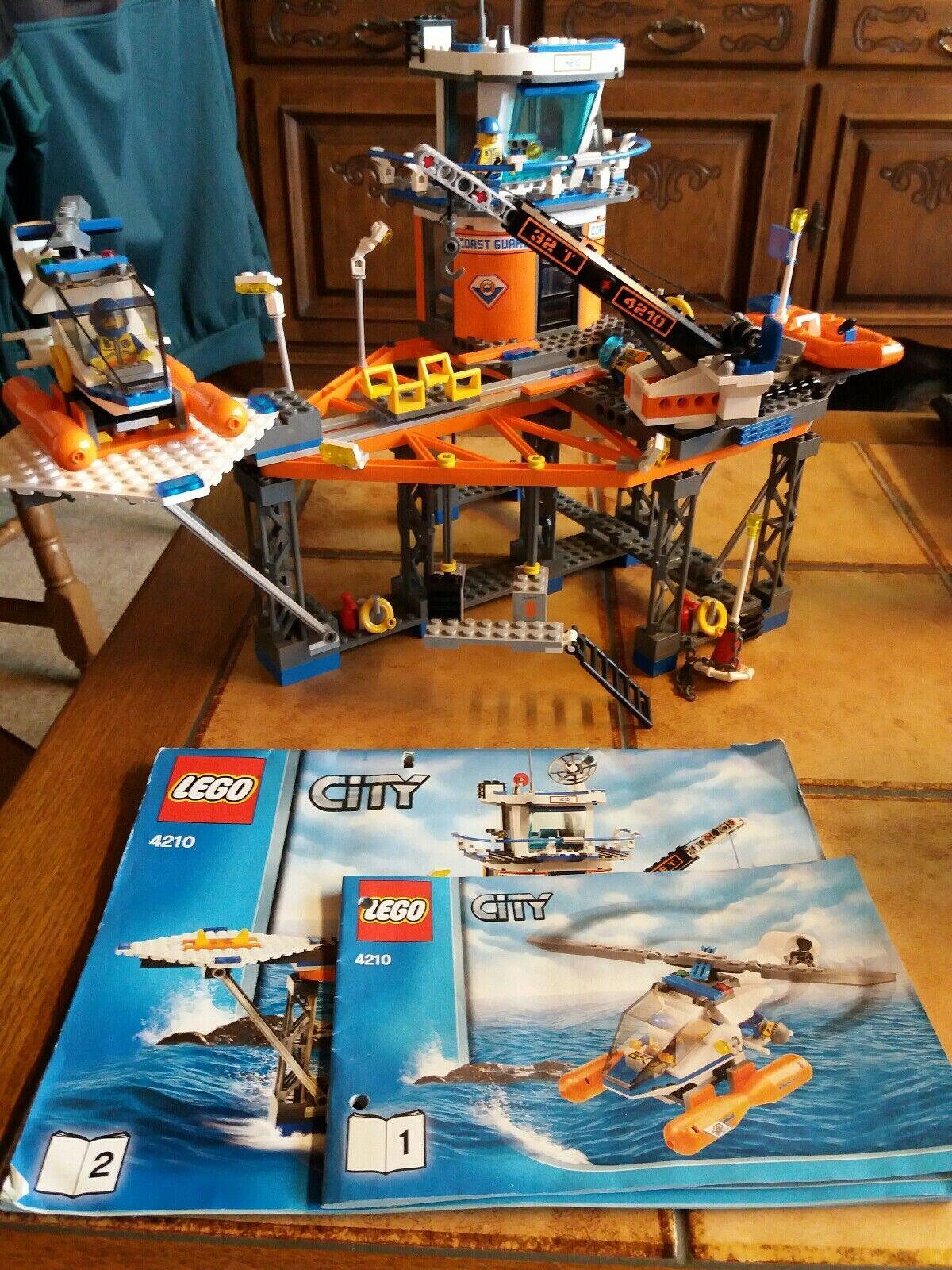 LEGO LEGO LEGO City Rettungsplattform der Küstenwache (4210)  mit Bauplan e56ba5