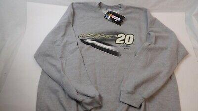 Matt Kenseth #20 Joe Gibbs Racing JGR Gray Sweatshirt Mens L LARGE BRAND NEW