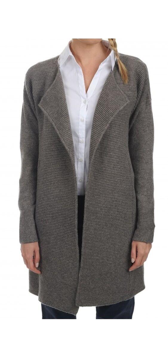 Balldiri 100% Cashmere Kaschmir Damen Mantel 8 2-fädig graubraun S