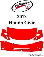 3M Scotchgard Paint Protection Film Clear Bra Pre-Cut Kits 2012 Honda Civic