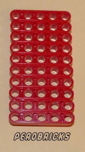 Lego Technic Technique 10 Liftarme 5 trous #32316 Rouge