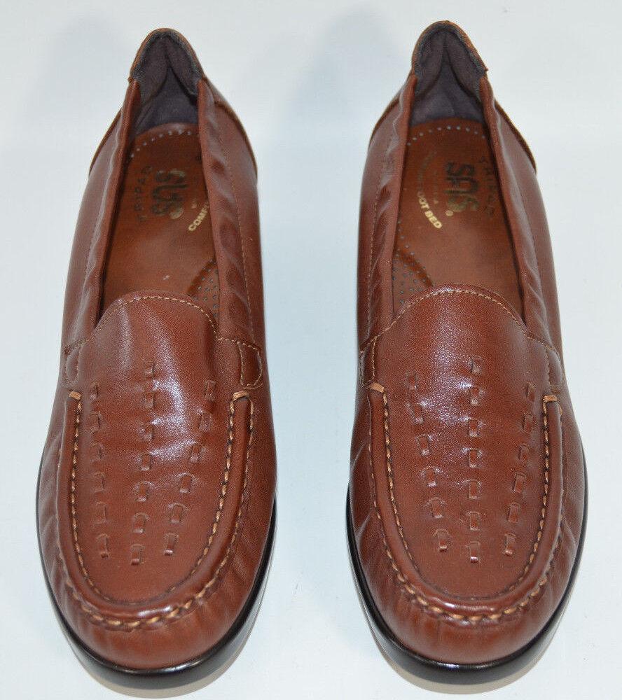 shopping online e negozio di moda SAS Tripad Comfort Comfort Comfort Marrone Leather Weave Wedge Loafer Slip-On Donna  7 N  goditi il 50% di sconto