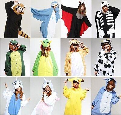 NEW Unisex Anime Kigurumi Carnevale Costume Pigiama Cosplay Onesies Sleepwear