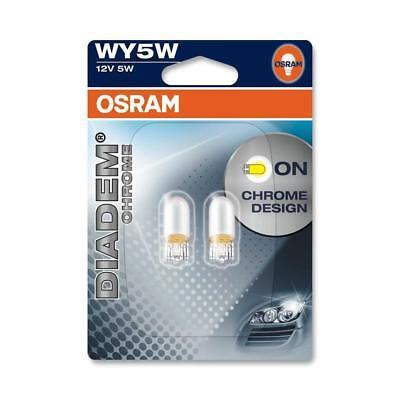OSRAM DIADEM CHROME WY5W Blinkerlampe 2827DC für PKW und Motorräder, gelb, 2 Stü