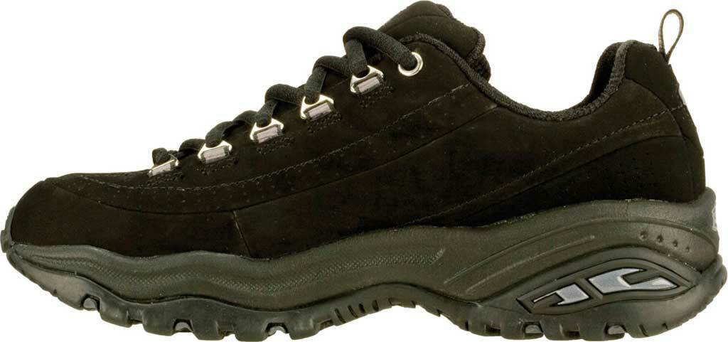 5685d745 Skechers Sport Premium Womens Shoe Black Leather Athletic Walking Sneakers  1718