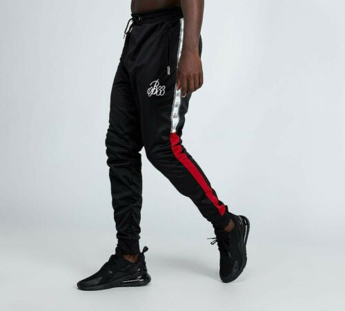 SA2 MENS BEE INSPIRED COLTS POLY PANT BLACK//WHITE//RED RRP £44.99