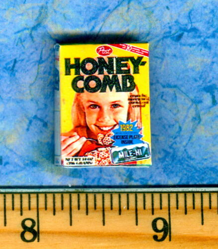 Dollhouse Miniature  Size  Honey Comb Cereal BOX